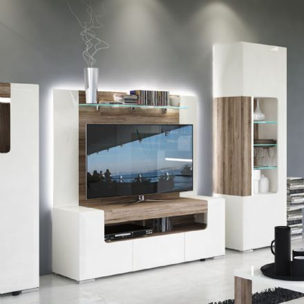 Toronto 190 cm wide TV Cabinet Plus Wall Unit